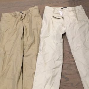Lot of 2 polo Ralph Lauren boys khaki pants